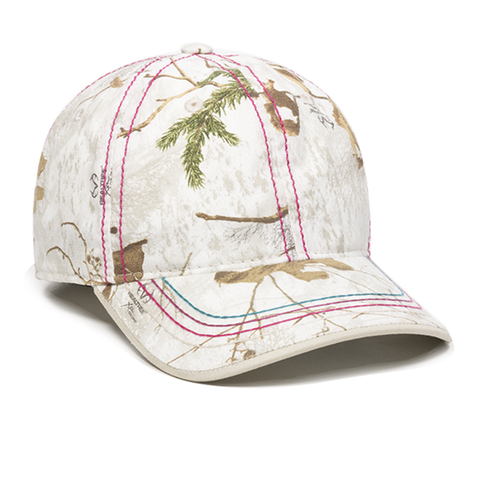 OC Sports 101LDS Adjustable Ladies Fit Cap - Realtree Xtra Snow - HIT A Double