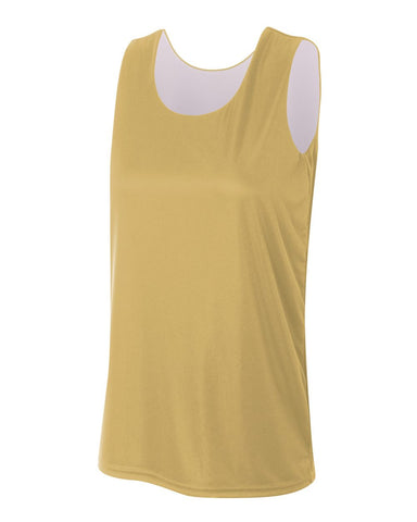A4 NW2375 Women's Reversible Jump Jersey - Vegas Gold White