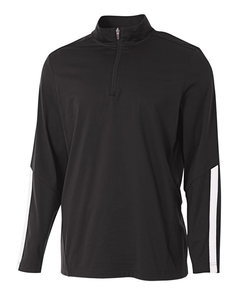 A4 N4262 League 1/4 Zip Jacket - Black White