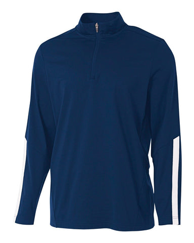 A4 N4262 League 1/4 Zip Jacket - Navy White