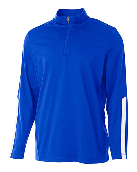 A4 N4262 League 1/4 Zip Jacket - Royal White
