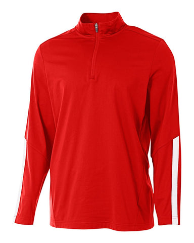 A4 N4262 League 1/4 Zip Jacket - Scarlet White