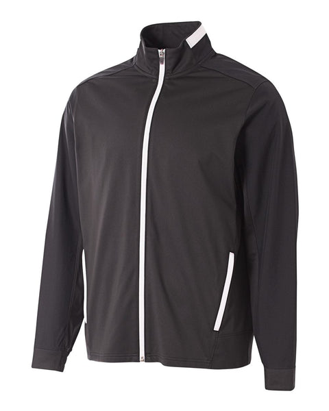 A4 N4261 League Full Zip Warm Up Jacket - Black White