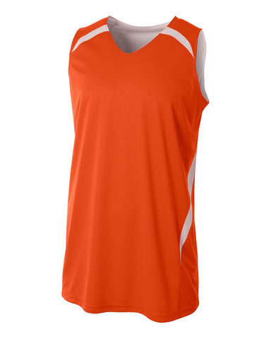A4 N2372 Double Double Reversible Jersey - Orange White