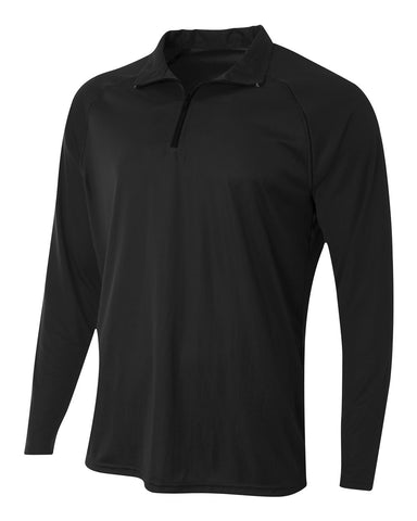 A4 N4268 Daily 1/4 Zip - Black - HIT A Double