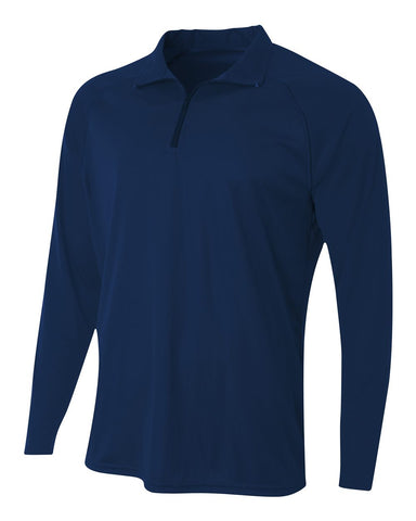A4 N4268 Daily 1/4 Zip - Navy - HIT A Double
