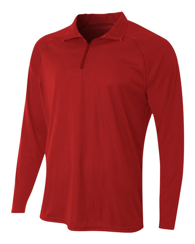 A4 N4268 Daily 1/4 Zip - Scarlet - HIT A Double