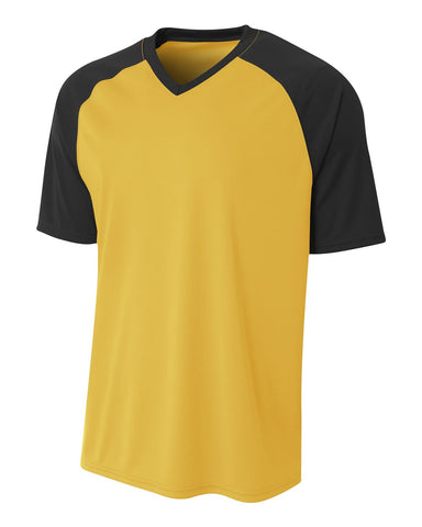 A4 N3373 Strike Jersey - Gold Black - HIT A Double