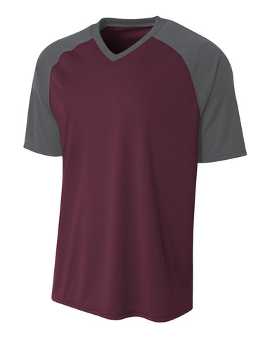 A4 N3373 Strike Jersey - Maroon Graphite - HIT A Double