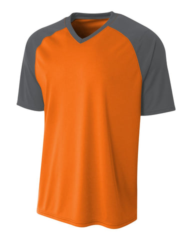 A4 N3373 Strike Jersey - Safety Orange Graphite - HIT A Double
