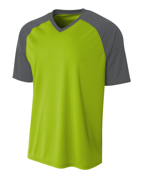 A4 N3373 Strike Jersey - Lime Graphite - HIT A Double