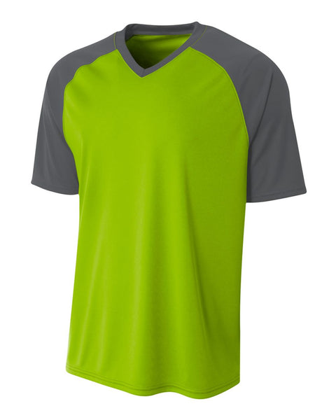 A4 NB3373 Youth Strike Jersey - Lime Graphite