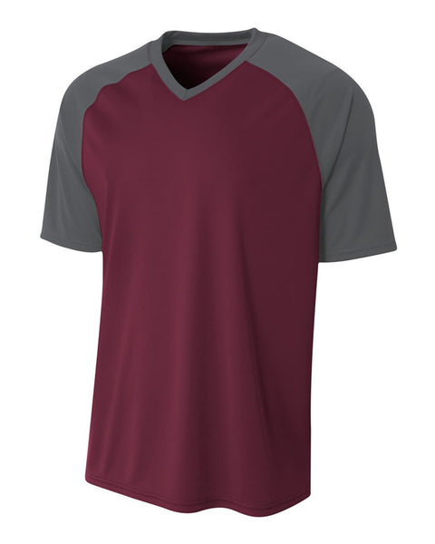A4 NB3373 Youth Strike Jersey - Maroon Graphite