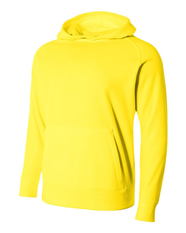 A4 NB4237 Youth Solid Tech Fleece Hoodie - Safety Yellow