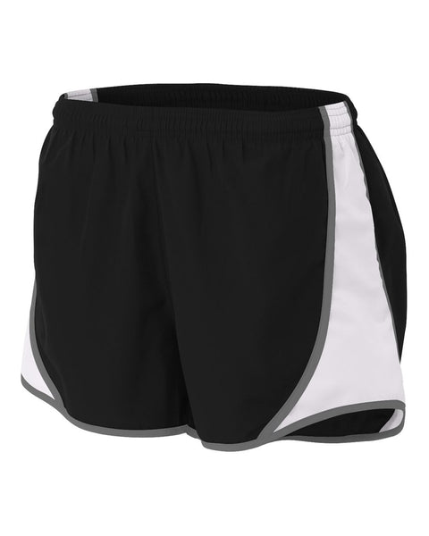 "A4 NW5341 Womens 3"" Speed Short - Black White"