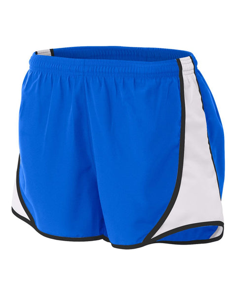 "A4 NW5341 Womens 3"" Speed Short - Royal White"