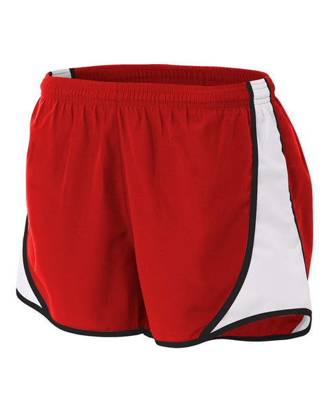 "A4 NW5341 Womens 3"" Speed Short - Scarlet White"
