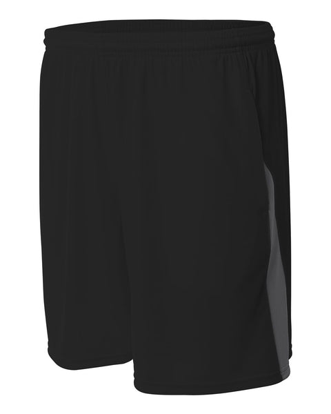 A4 N5005 Pocketed Color Block Short - Black Graphite - HIT A Double