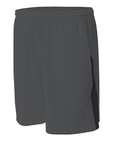A4 N5005 Pocketed Color Block Short - Graphite Black