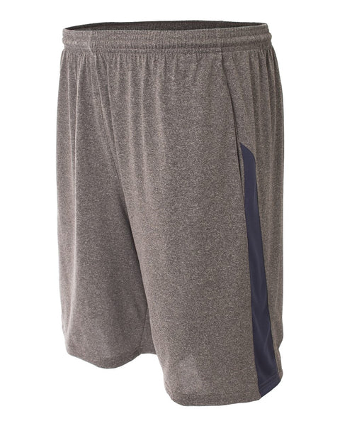 A4 N5005 Pocketed Color Block Short - Heather Navy