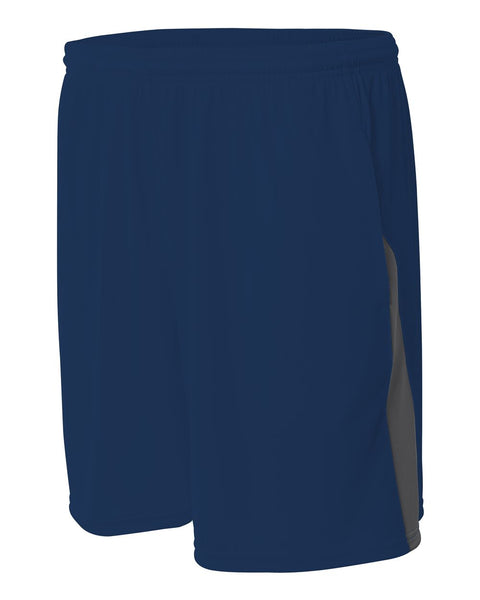 A4 N5005 Pocketed Color Block Short - Navy Graphite - HIT A Double