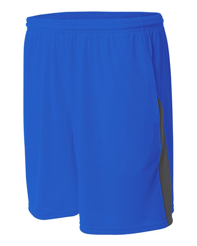 A4 N5005 Pocketed Color Block Short - Royal Graphite - HIT A Double