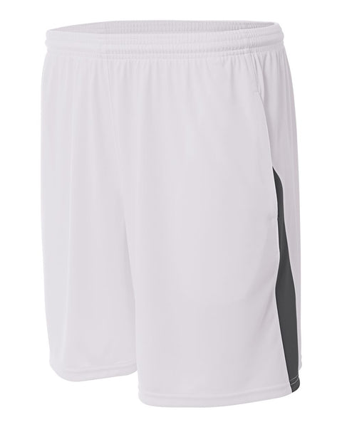 A4 N5005 Pocketed Color Block Short - White Graphite