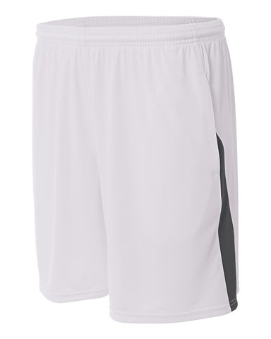 A4 N5005 Pocketed Color Block Short - White Graphite - HIT A Double