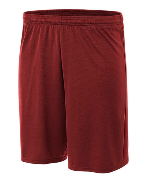 "A4 N5281 9"" Cooling Performance Power Mesh Practice Short - Cardinal"