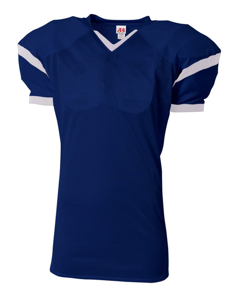 A4 N4265 The Rollout Football Jersey - Navy White