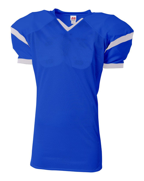A4 N4265 The Rollout Football Jersey - Royal White