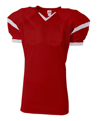 A4 N4265 The Rollout Football Jersey - Scarlet White