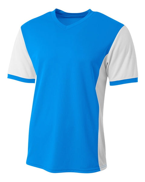 A4 N3017 Premier Soccer Jersey - Electric Blue White