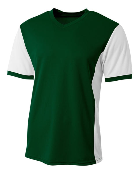 A4 N3017 Premier Soccer Jersey - Forest White
