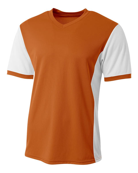 A4 N3017 Premier Soccer Jersey - Orange White