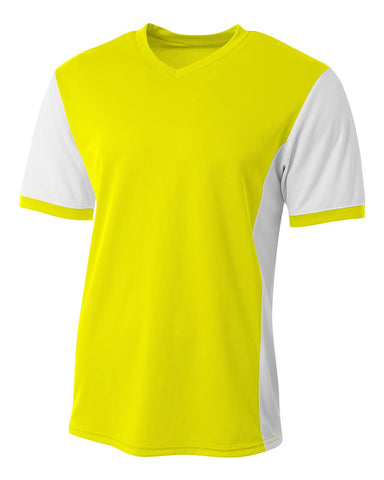 A4 N3017 Premier Soccer Jersey - Safety Yellow White