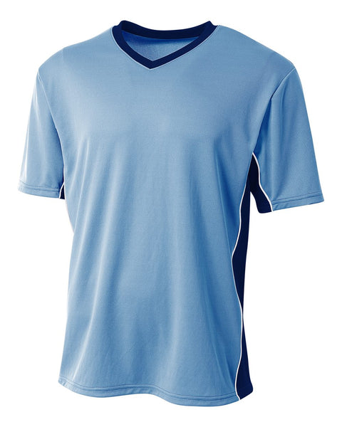 A4 N3018 Liga Soccer Jersey - Light Blue Navy