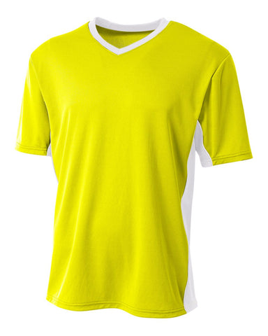 A4 N3018 Liga Soccer Jersey - Safety Yellow White