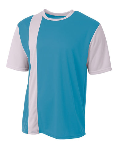 A4 N3016 Legend Soccer Jersey - Electric Blue White - HIT A Double