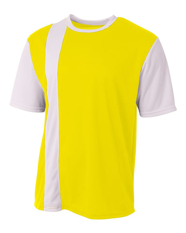A4 NB3016 Legend Soccer Jersey - Safety Yellow White