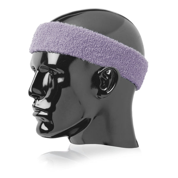 "Twin City Terry Headband 2"" Wide - Lilac - Tennis, Fanwear - Hit A Double"