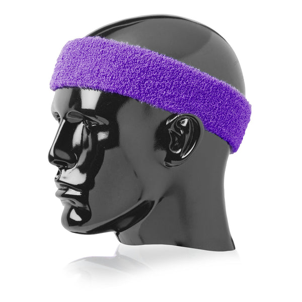 "Twin City Terry Headband 2"" Wide - Purple - Tennis, Fanwear - Hit A Double"