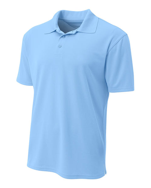 A4 N3008 Performance Pique Polo - Light Blue