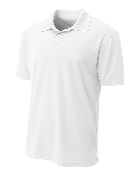 A4 N3008 Performance Pique Polo - White