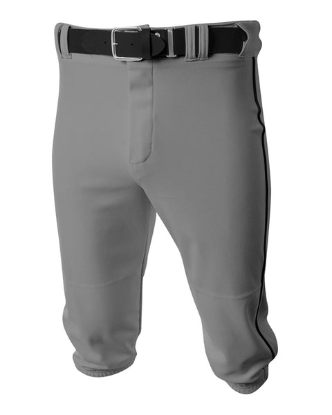 A4 N6003 Baseball Knicker Pant - Gray Black