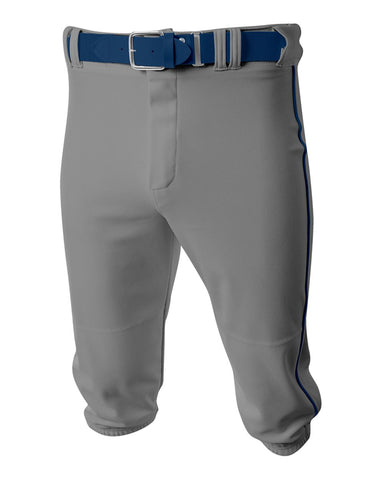 A4 N6003 Baseball Knicker Pant - Gray Navy