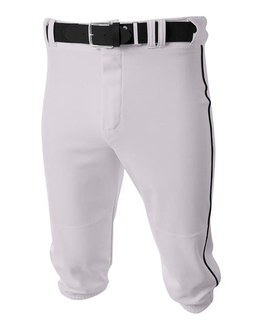 A4 N6003 Baseball Knicker Pant - White Black