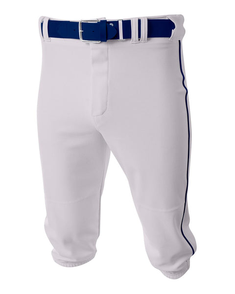 A4 N6003 Baseball Knicker Pant - White Navy