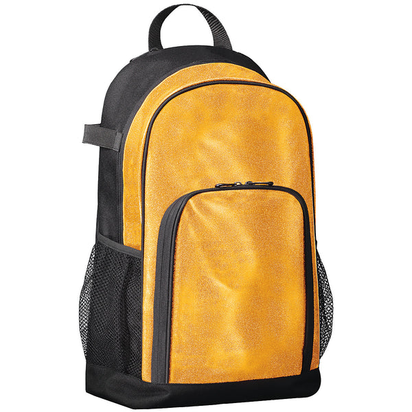 Augusta 1106 All Out Glitter Backpack - Gold Glitter Black