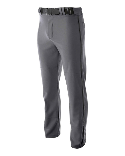 A4 N6162 Pro Style Open Bottom Baggy Cut Baseball Pant - Graphite
